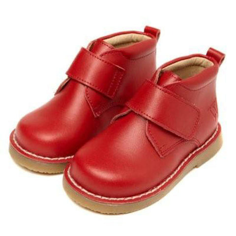 Walnut Red Velcro Desert Boot - RedHill Childrenswear