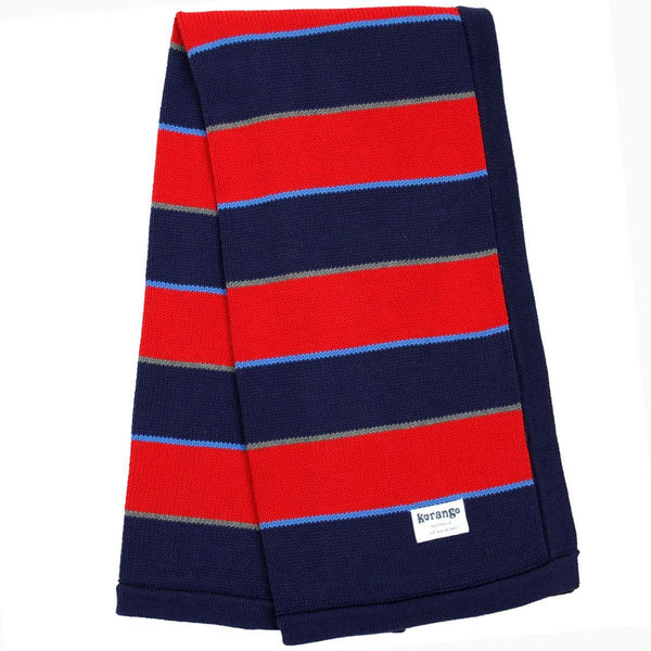 KORANGO Red Stripe Knit Blanket - RedHill Childrenswear