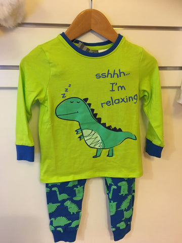 Under Cover Crew Baby Boys Green Dino Pyjamas