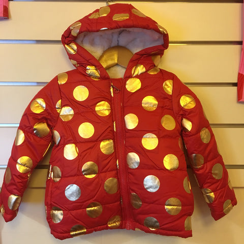 Candy Stripes Red with Gold Spots Jacket