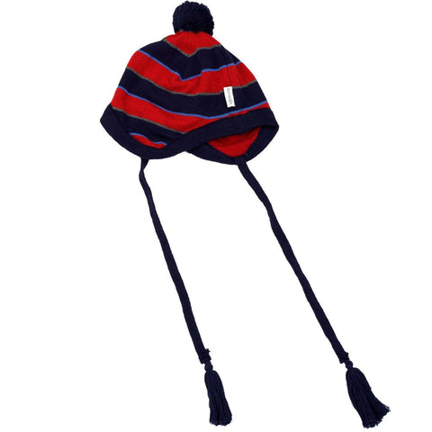 Korango Red Striped Lined Beanie - RedHill Childrenswear