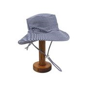 Bebe Luke Stripe Swim Sun Hat