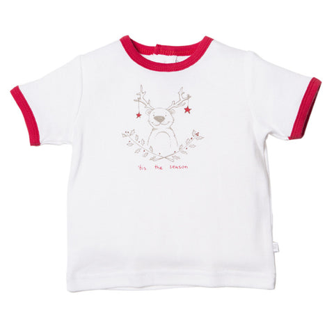 BEBE Christmas Graphic Ringer Tee - RedHill Childrenswear