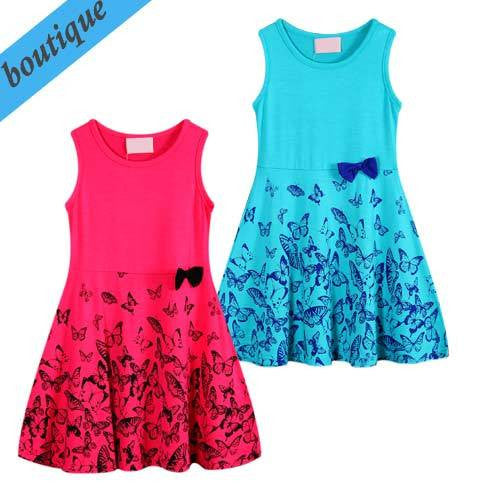 Funky Babe Girls Aqua Butterfly Dress - RedHill Childrenswear