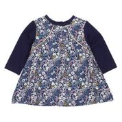 BEBE Elsie LS Mix Print Dress