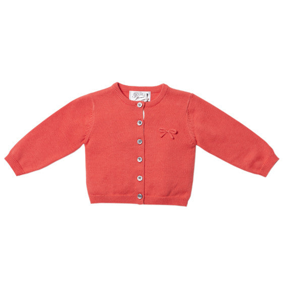 BEBE Pink Cardigan with Bow - RedHill Childrenswear