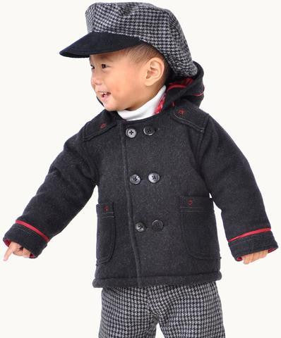 ETERNAL CREATION Charcoal Wool Toddler Coat/Jacket
