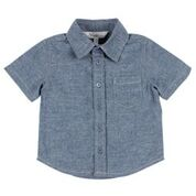 Bebe Jacob Short Sleeve Chambray Shirt