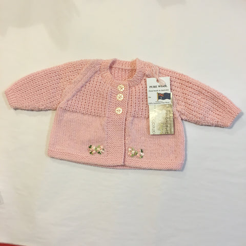 Handmade Pink Knitted Cardigan - RedHill Childrenswear