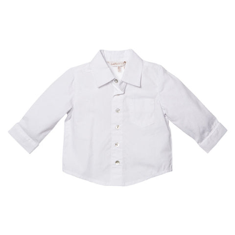 Fox and Finch Milan White Dressy LS Shirt - RedHill Childrenswear