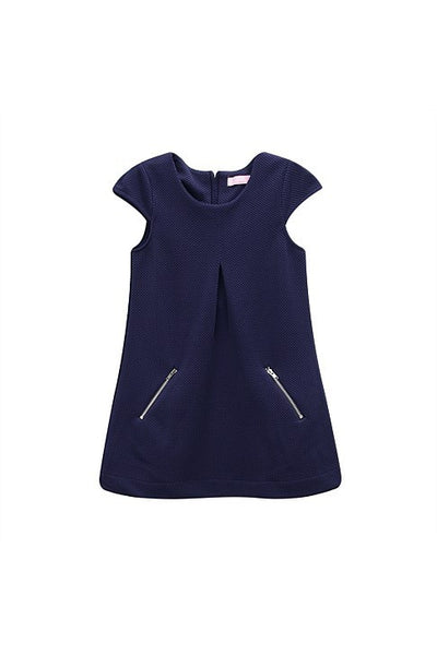 Funky Babe Navy Girls Cap Sleeve Dress