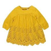 BEBE Elsie LS Dandelion Cut Work Dress