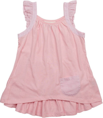 Paper Wings Light Pink Frilled Singlet