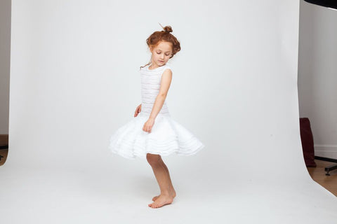 CHALK N CHEESE Special Tootoo White Dress - RedHill Childrenswear