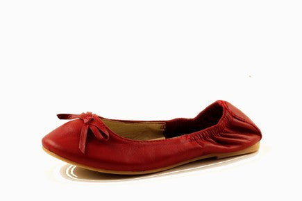Chilli Kids Bobbie Red Ballet Flat Shoe - RedHill Childrenswear