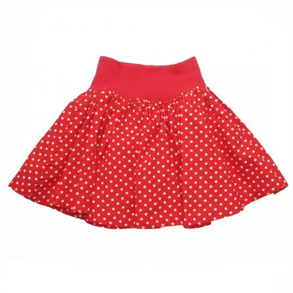 Rhubarb Red Spot Skirt - RedHill Childrenswear