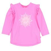 Bebe Ivy Mandala Long Sleeve Floral Swim Rash