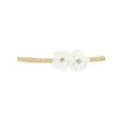 Bebe SO Lace Flower Diamonte on a Gold Band Headband