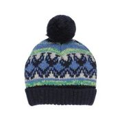 BEBE Rocket Fairisle Beanie with Pom Pom