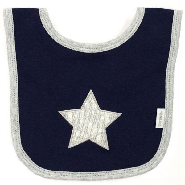 Korango Navy Little Star Bib - RedHill Childrenswear