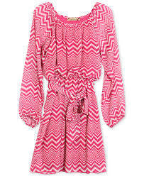 Speechless Girls Chevron Print Tie Dress - RedHill Childrenswear