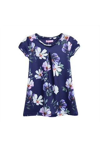 Funky Babe Girls Navy Floral Dress