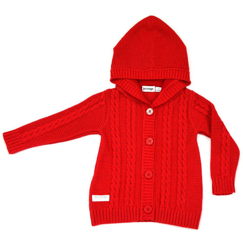 KORANGO Red Pure Patterns Cable Knit Jacket - RedHill Childrenswear