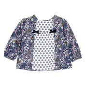 BEBE Elsie LS Mix Print Top
