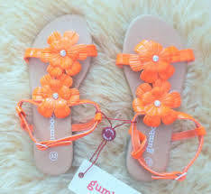 Gumboots Orange Flower Sandal - RedHill Childrenswear