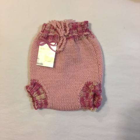 Handmade Pink Knitted Nappy Pants - RedHill Childrenswear