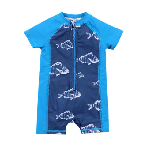 BEBE Jonah UPF 50+ Zip Front Sunsuit - RedHill Childrenswear