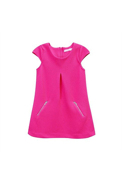 Funky Babe Pink Girls Cap Sleeve Dress