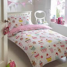 Bluezoo Pink Cupcake Duvet Cover and Pillow Set - RedHill Childrenswear