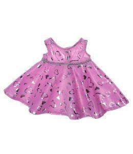 Teddy Mountain Pink&Silver Dress - RedHill Childrenswear