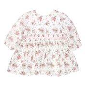 BEBE Chloe Print LS Pintuck Dress