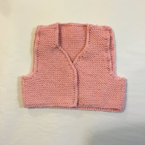 Handmade Pink Knitted Vest - RedHill Childrenswear