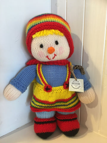 Handmade Knitted Girl Twin Doll - RedHill Childrenswear