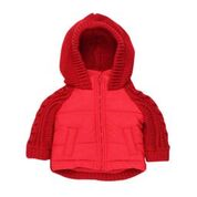 BEBE Red Half Knit Jacket