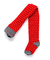 Ouch Red Tights with Off White Spot - RedHill Childrenswear