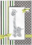 LITTLE BITS Grey Giraffe Handmade Greeting Card - RedHill Childrenswear