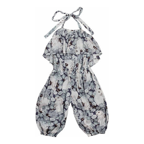 Paper Wings Bunny Fields Harem Romper