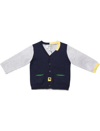 Bebe Oliver Spliced Cardigan - RedHill Childrenswear