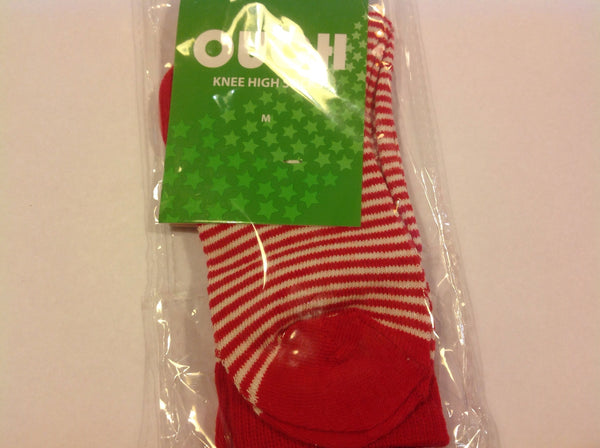 Ouch Red and White Stripe Sock - RedHill Childrenswear