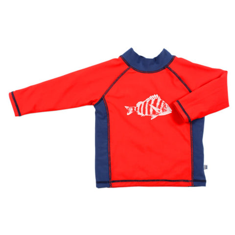 BEBE Jonah Fish UPF 50+ LS Rash Top - RedHill Childrenswear