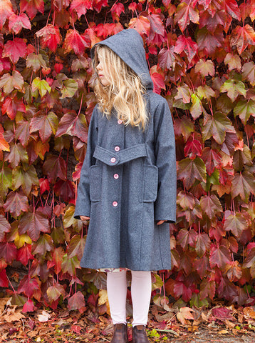 CHALK N CHEESE Ash Grey Wool KeepSake Coat Jacket - REDHILL CHILDRENSWEAR