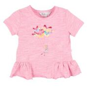 Bebe Daphnie S/S Butterfly Frill Tee