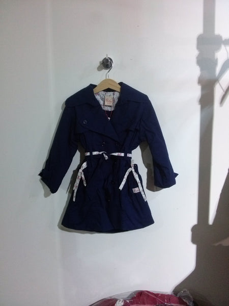Piccolina Navy Trench Coat