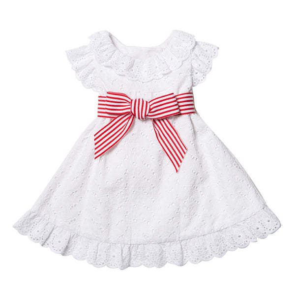 BEBE Anita Broidery Dress - RedHill Childrenswear