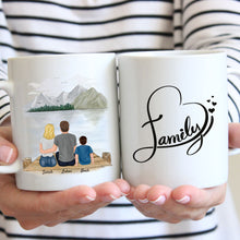 Laden Sie das Bild in den Galerie-Viewer, Happy Family - Personalisierte Familien Tasse (1 Kind)