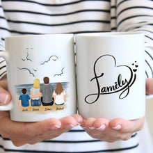 Laden Sie das Bild in den Galerie-Viewer, Happy Family #2 - Personalisierte Familien Tasse (2 Kinder)